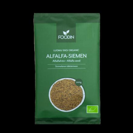 Foodin alfalfa-siemen 200g