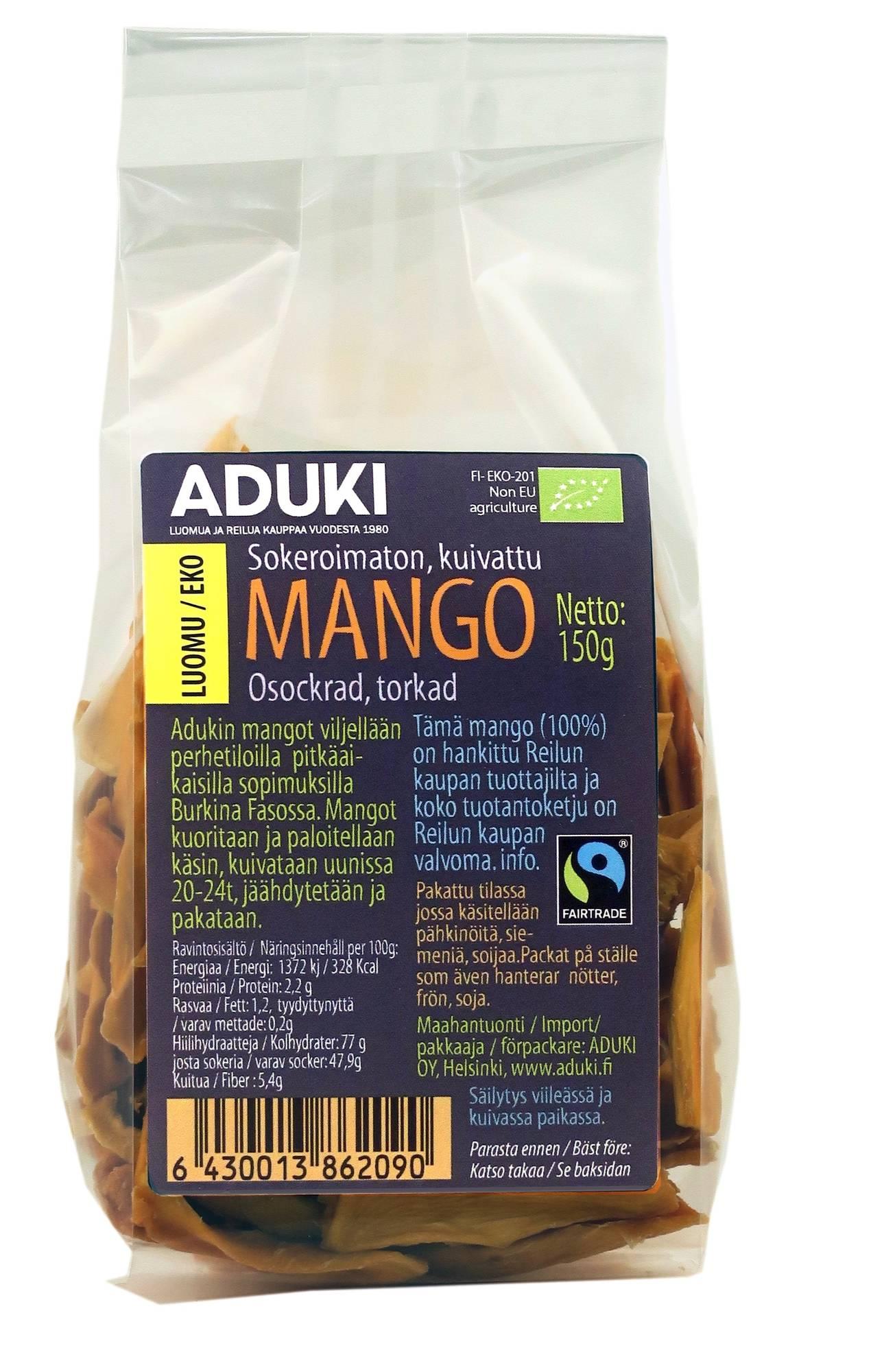 Aduki sokeroimaton mango