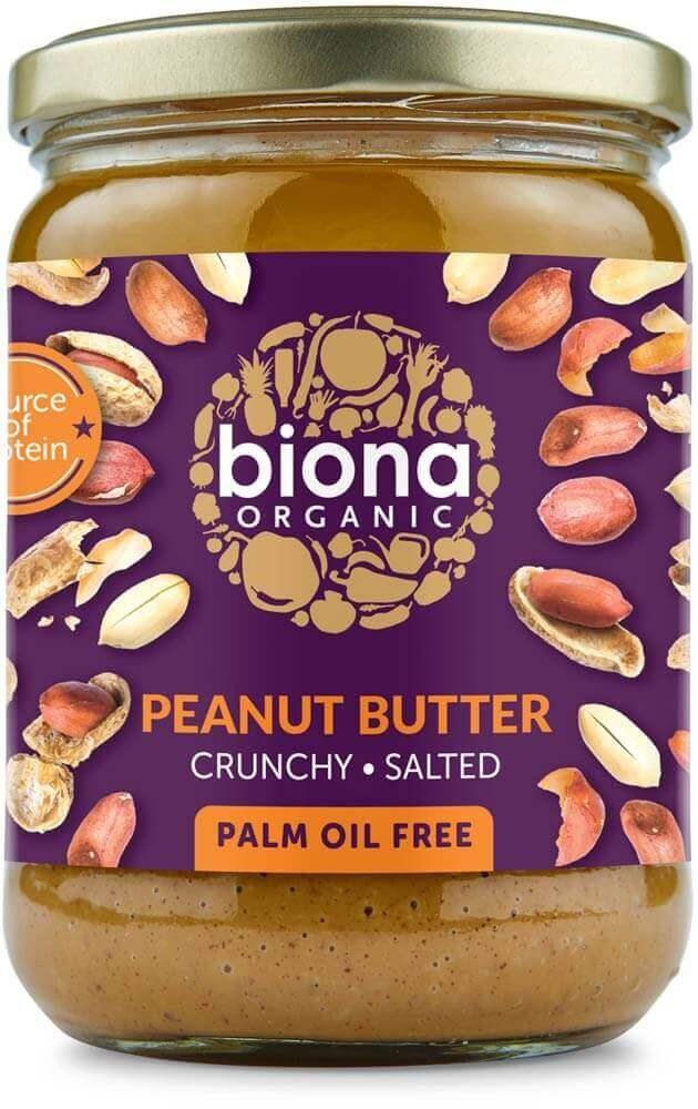 Biona maapähkinävoi crunchy & unsalted