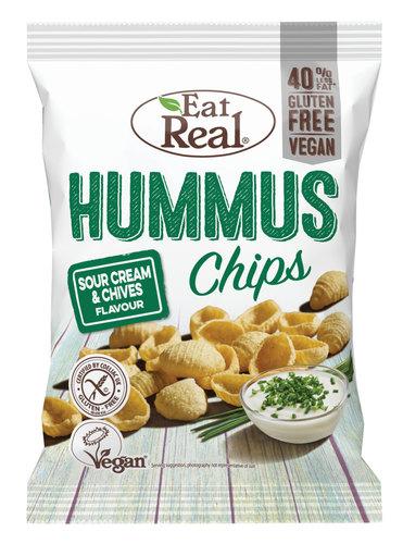 Eat Real hummussipsi kermaviili & ruohos