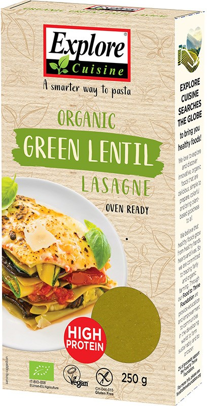 Explore Cuisine vihreä linssilasagne