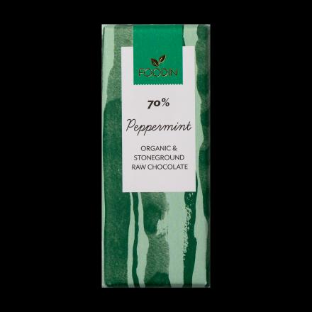 Foodin raakasuklaa Peppermint 70%