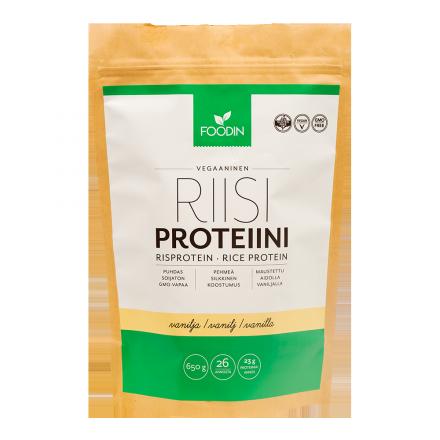Foodin riisiproteiini vanilja 650 g
