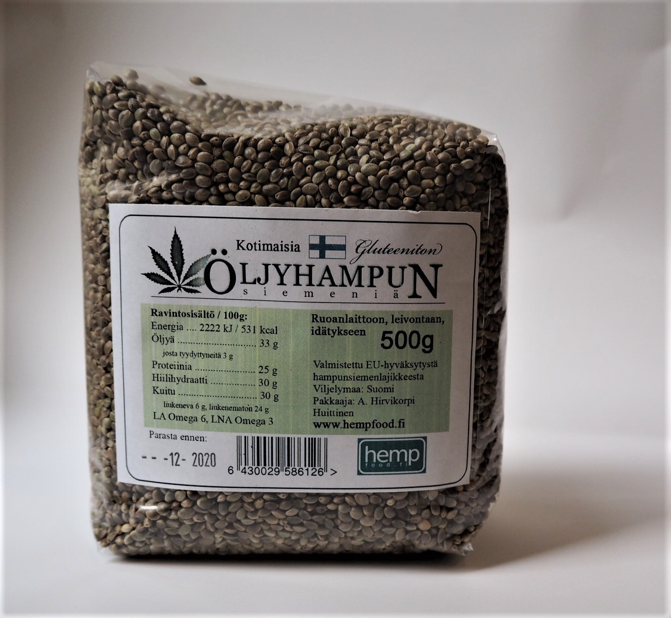 Hempfood hampunsiemen 500 g