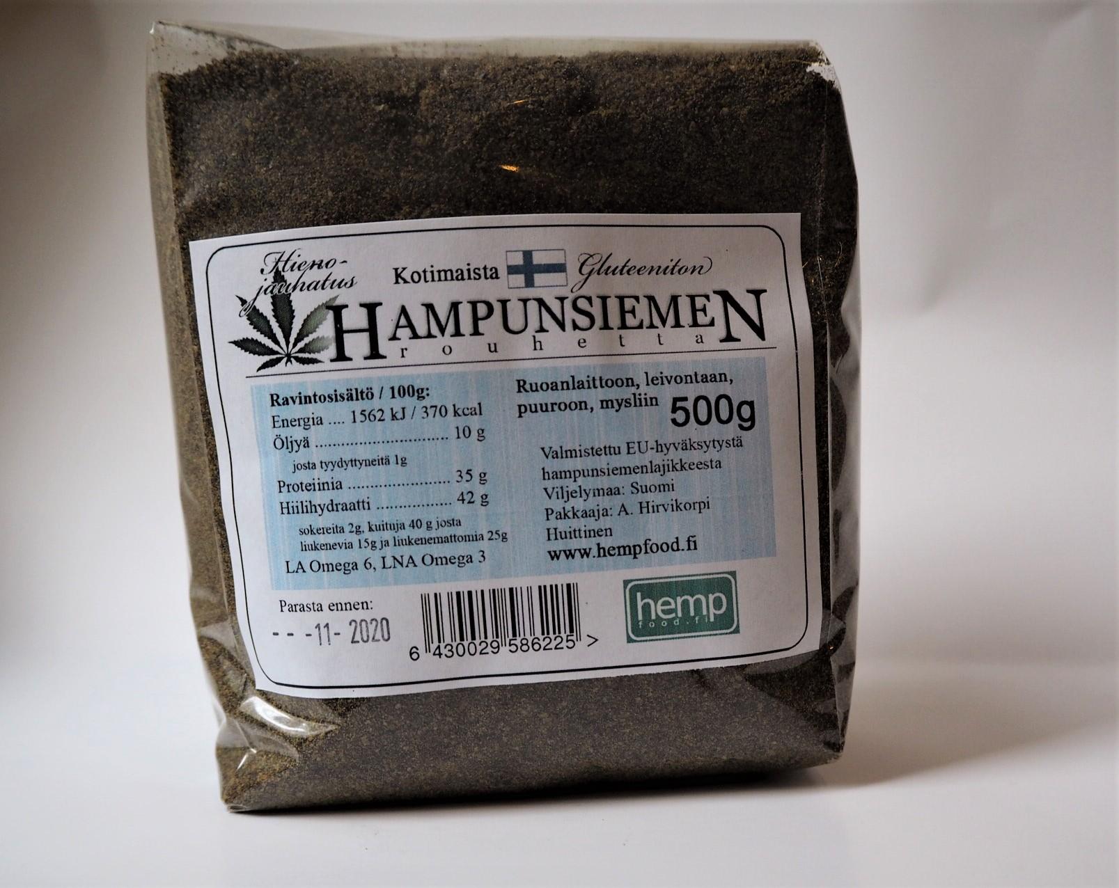 Hempfood hampunsiemenrouhe 500 g