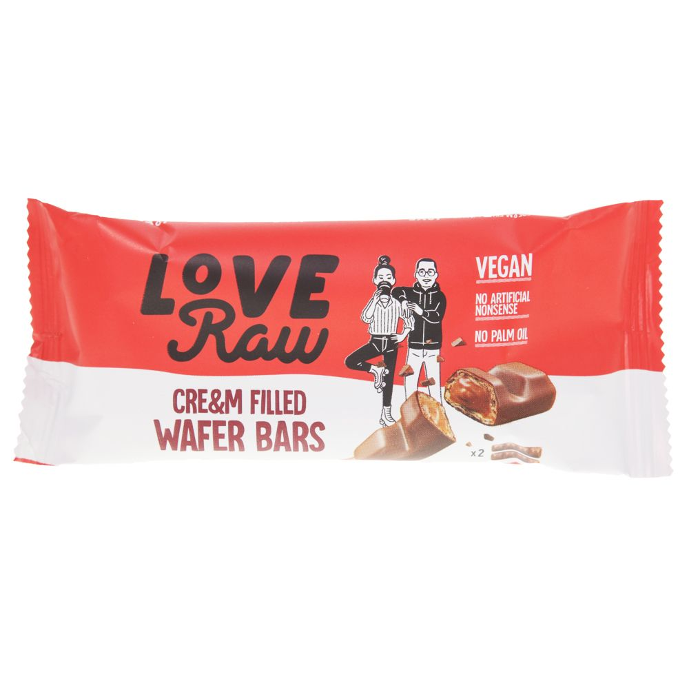 Love Raw vohvelipatukka cream filled