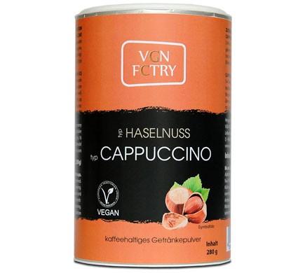 VGN FCTRY cappuccinojauhe hasselpähkinä